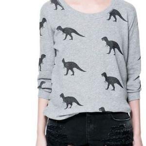 Zara T-Rex Sweater sz Small